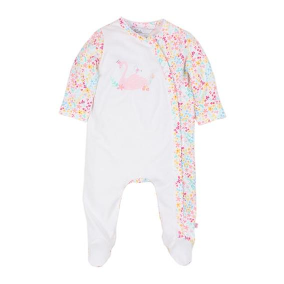 Bebe Ariana L/S Zip Romper with Feet  XS17-796