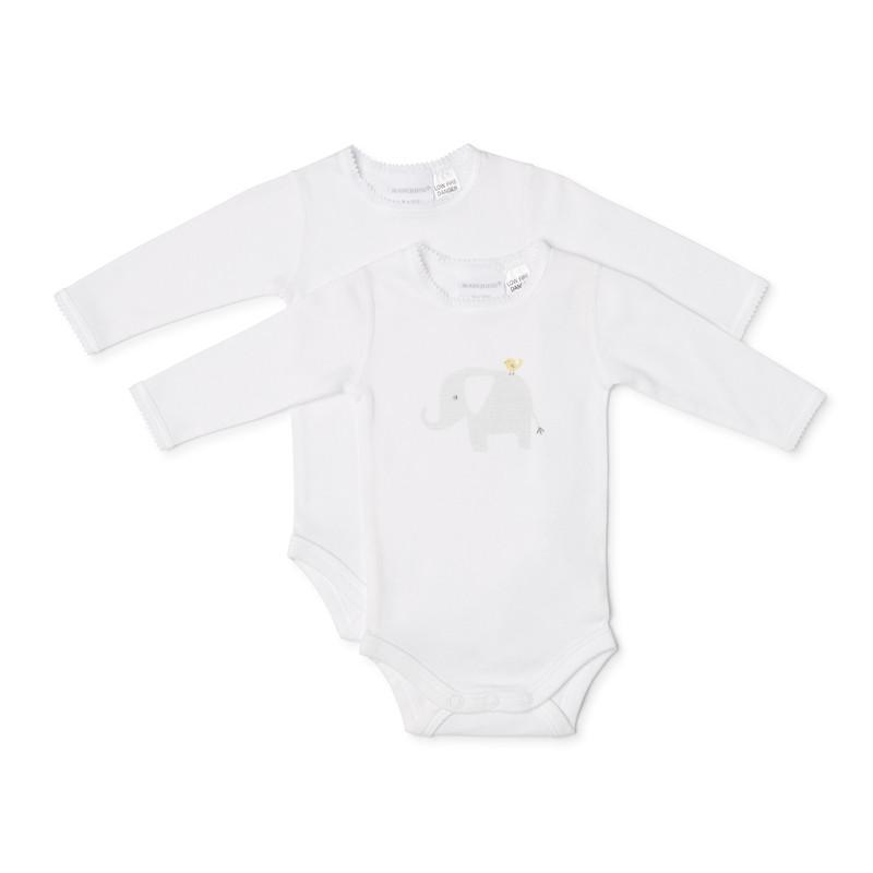 Marquise 2pk Elephant Bodyspencer - White