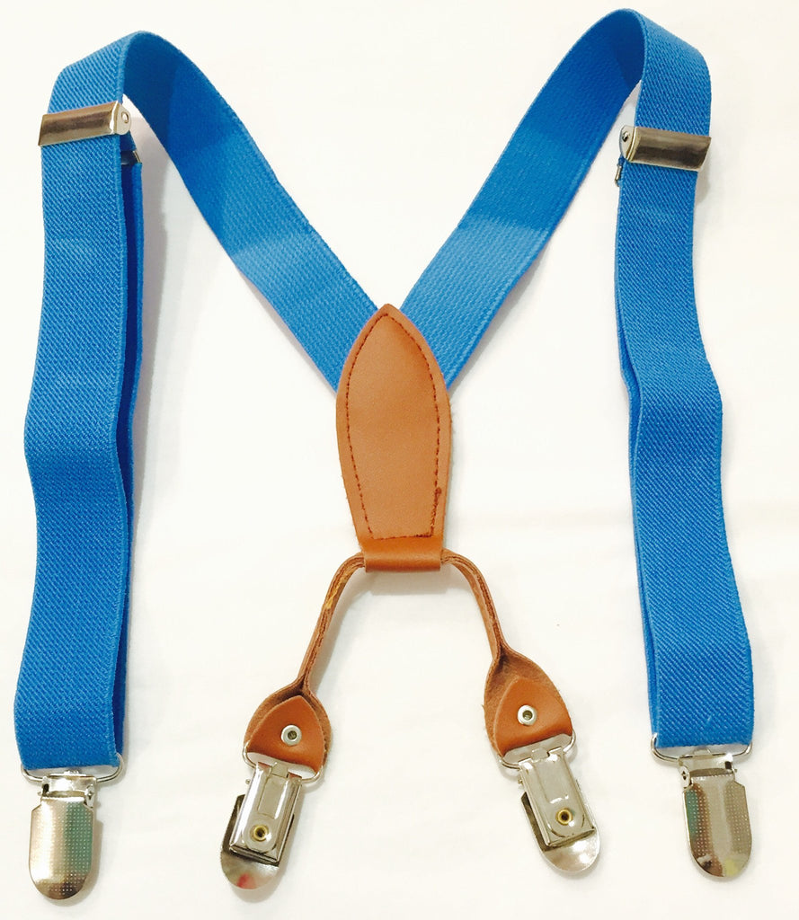Vintagespired Braces/Suspenders in Bright Light Blue - Sweet Thing Baby & Childrens Wear