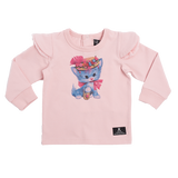 Rock Your Baby Pretty Kitty L/S T-Shirt - Pink