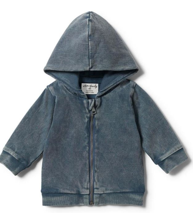 Wilson & Frenchy Hooded Jacket- Steel Blue