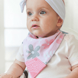 Becalm Baby Teething Bib - Petals