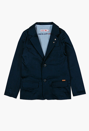 Boboli Boys Satin Blazer- Navy