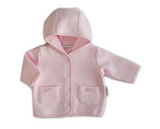 Beanstork Pink Quilted Bell Jacket (Size 3M-12M)