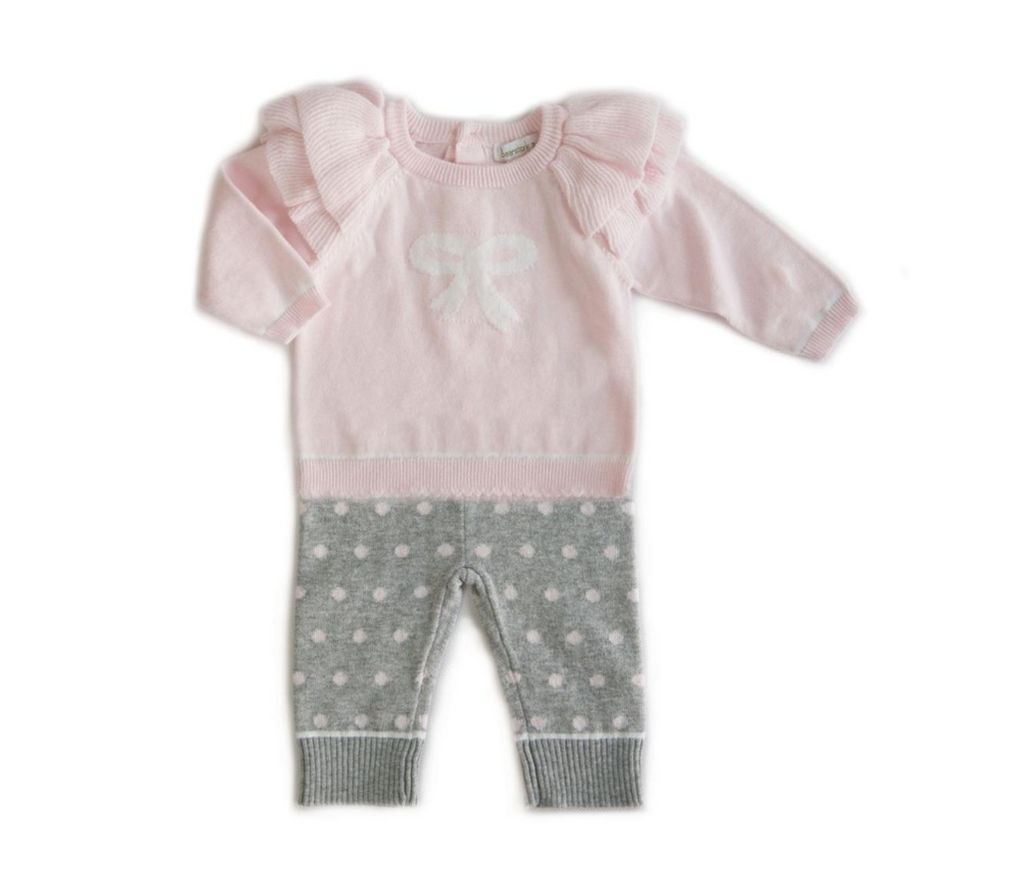 Beanstork Bow 2 pcs Set (Size 3M-12M)
