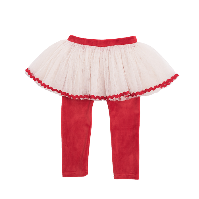 Rock Your Baby Velvet Circus Tights - Red