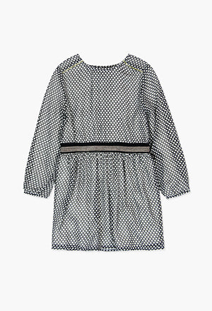 Boboli Cloud Romper-Grey/White