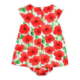 Boboli Red Flower Dress