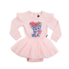 Rock Your Baby Pretty Kitty L/S Circus Dress - Pink