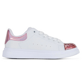 Clarks QUEENIE in White/Pink (Size EU 26-38)