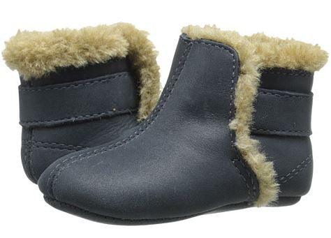 Old Soles Polar Boot Navy/Faux Fur - Sweet Thing Baby & Childrens Wear