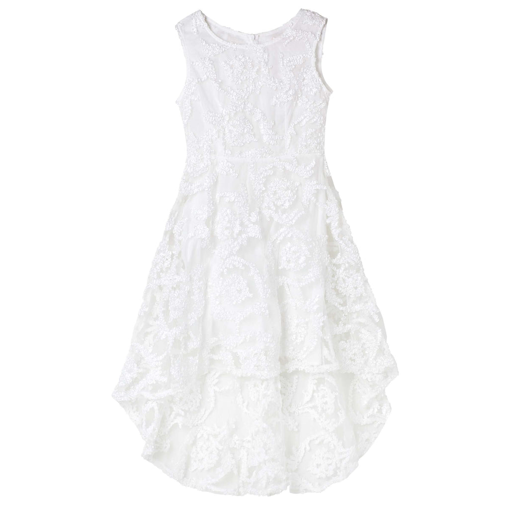 Designer Kidz Georgina Embroidered Dress - Ivory