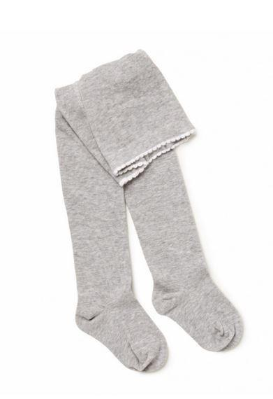 Marquise Grey Knitted Cotton Tights - Sweet Thing Baby & Childrens Wear