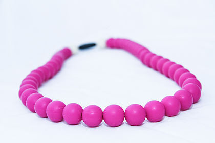 Gummy Wears Necklace in Boysenberry Chewellery (Hot Pink) - Sweet Thing Baby & Childrens Wear