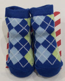 Designer Crossed Check Blue Socks - Sweet Thing Baby & Childrens Wear