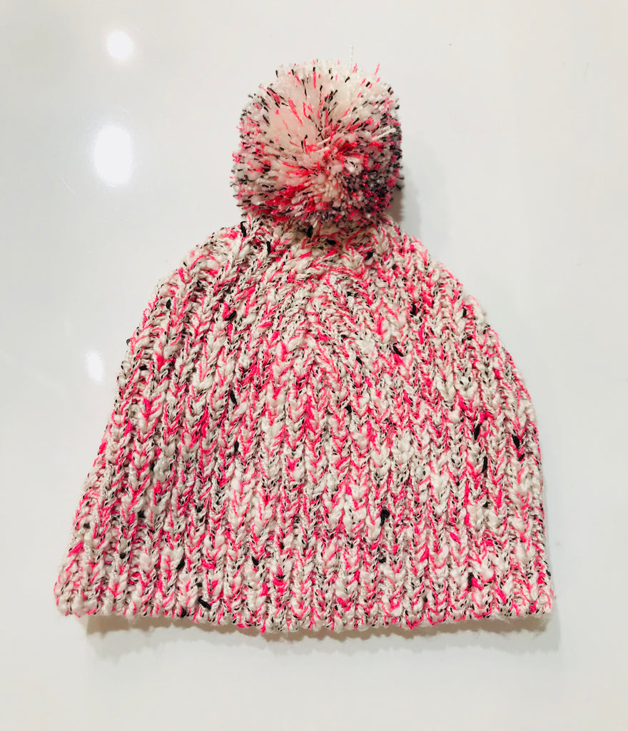 Fox & Finch Fluoro Knit Beanie with Pom Pom