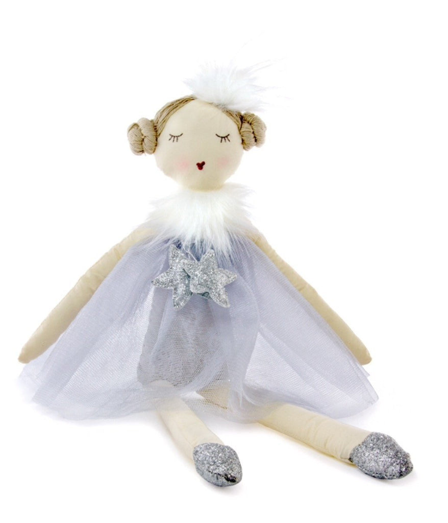 NANA HUCHY RAG DOLL Twinkles Ballerina - Silv - Sweet Thing Baby & Childrens Wear