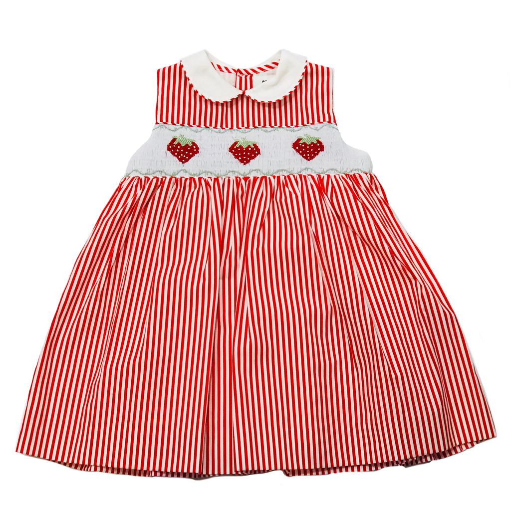 Korango Strawberry Collared Dress - Red