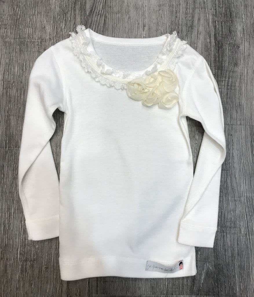 Vintagespired White L/S Top