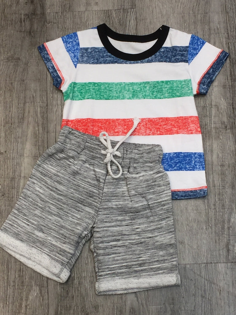 Toddler Striped Tee & Short Set