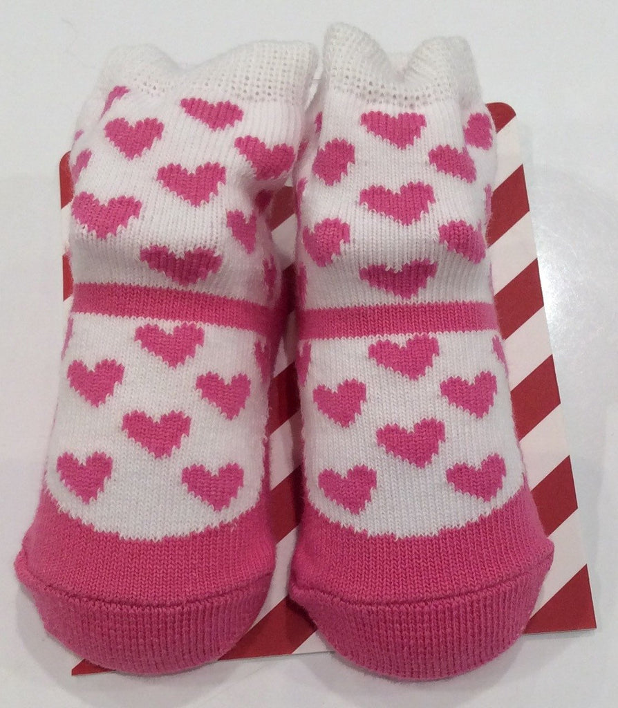 Designer Kidz Hot Pink Love Heart Socks - Sweet Thing Baby & Childrens Wear