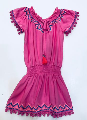 Bela & Nuni Royal Blue & Pink Kaftan