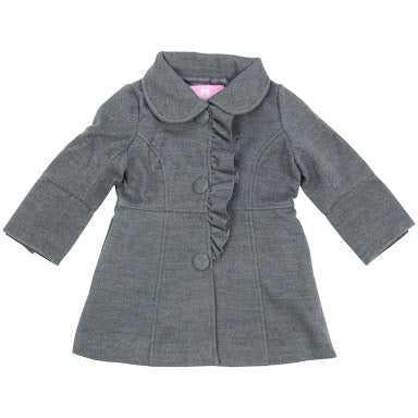 Korango Hearts Overcoat - Dark Grey