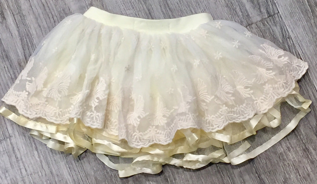 Japanese Doll Lace Tutu skirt in Cream - Sweet Thing Baby & Childrens Wear