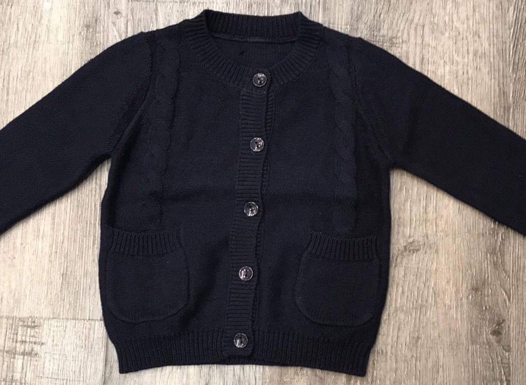 Navy Knitted Cardigan with pockets