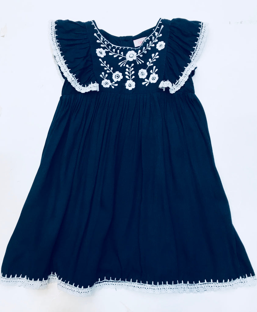 Bela & Nuni Navy & White Dress
