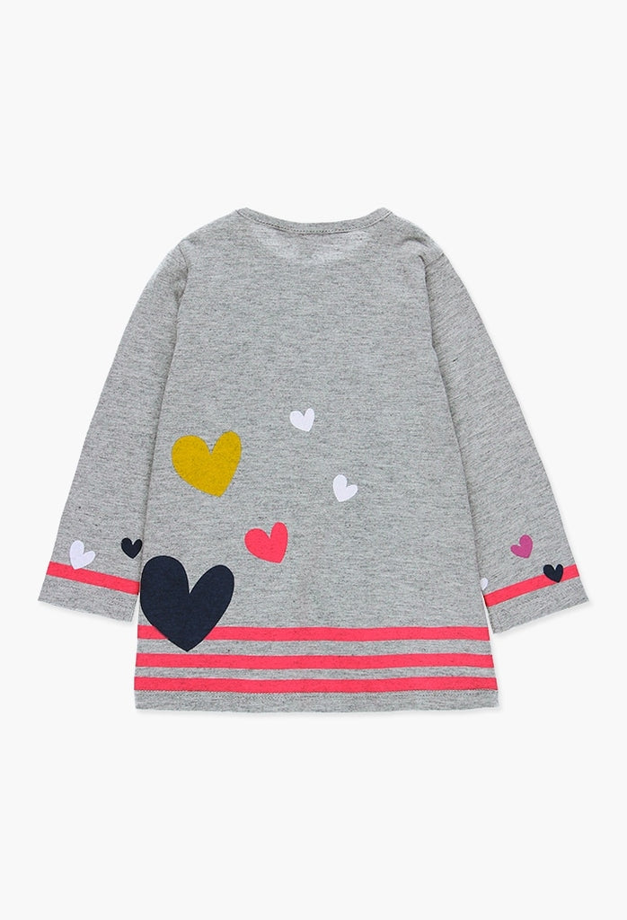 Boboli Knit Dress Flame for Baby Girl (6M-4Y)