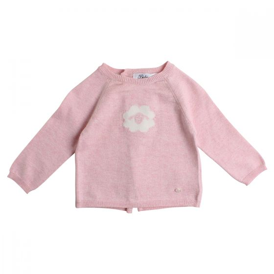 Bebe Pink Knit Sheep Face Sweater