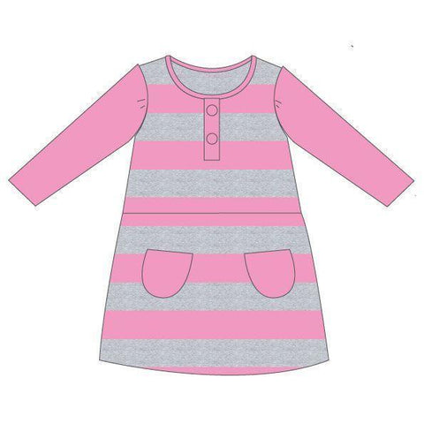 Korango Natural Class Collared Smocked Voile Dress  - Pink (Size NB-2Y)