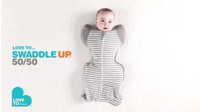 Love To Swaddle UP Original - 50/50 Grey/White Stripe - Sweet Thing Baby & Childrens Wear