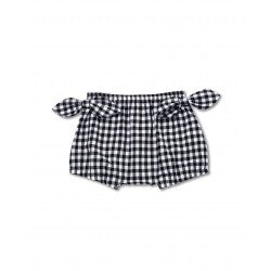 Walnut MARLEY BOW BLOOMER NAVY GINGHAM