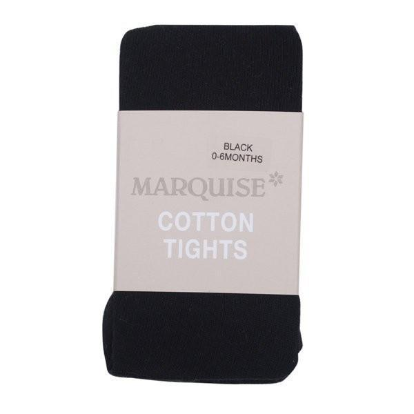 Marquise Black Knitted Cotton Tights - Sweet Thing Baby & Childrens Wear