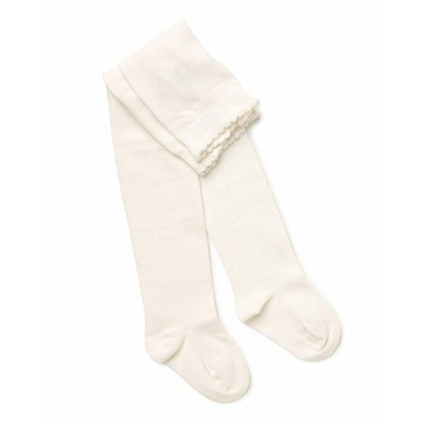Marquise Off White Knitted Cotton Tights - Sweet Thing Baby & Childrens Wear