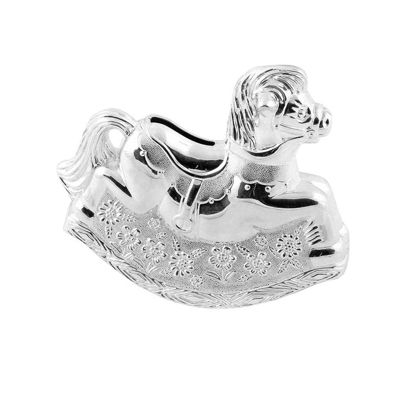 Bambino Sliver Rocking Hourse Money Box