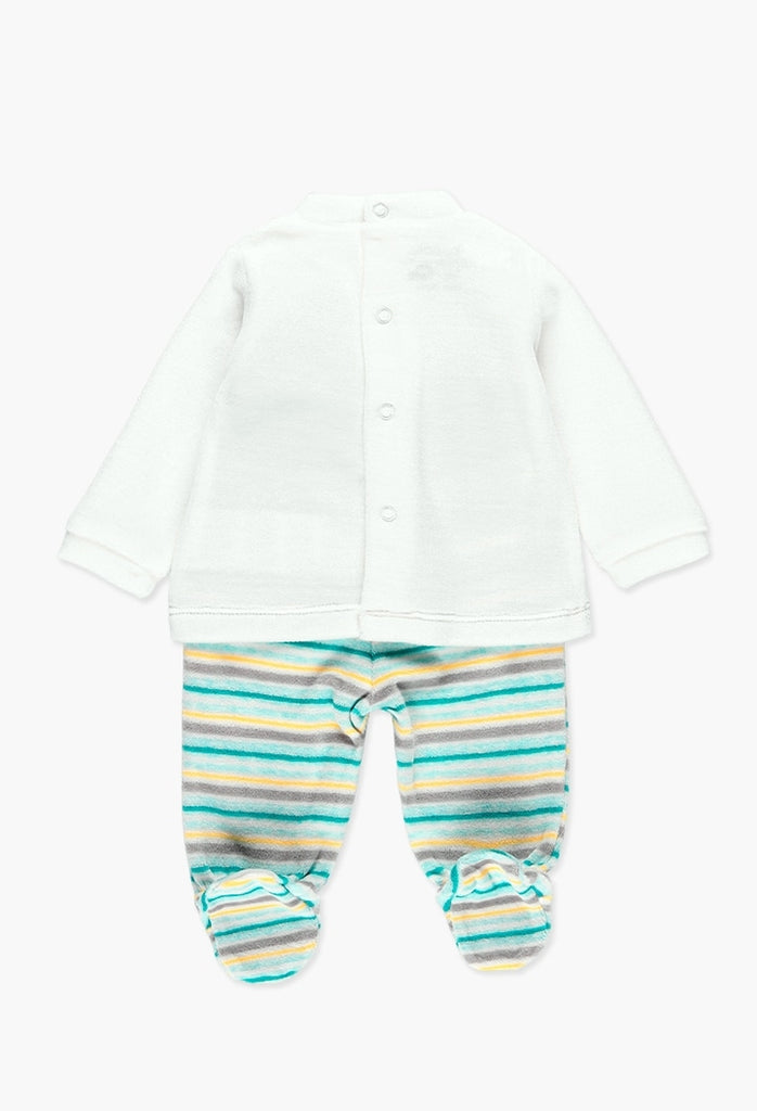 Boboli Pack Velour for Baby Boy  (Size NB-6M)