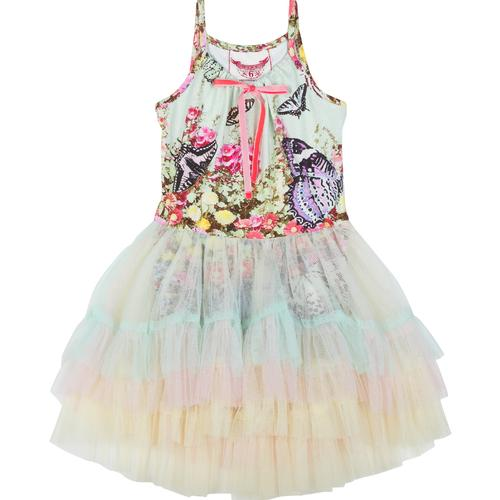 Paper Wings Leotard with Layered Frill Skirt - Flower Garden