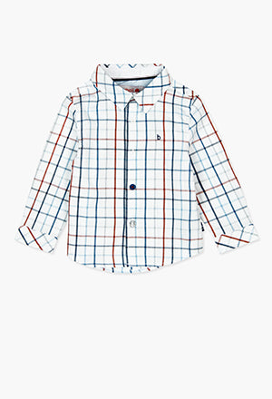 Boboli Check Shirt- Blue/Red/White