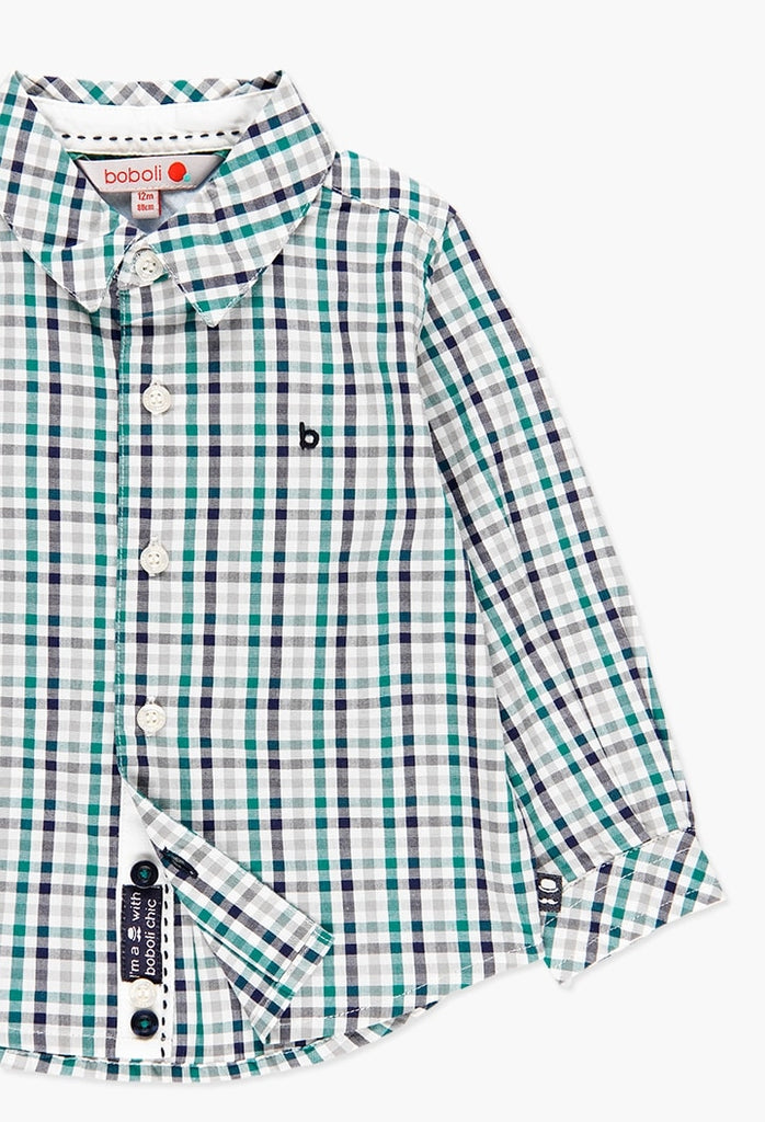 Boboli Poplin Shirt Check for Baby Boy (Size 1-6)