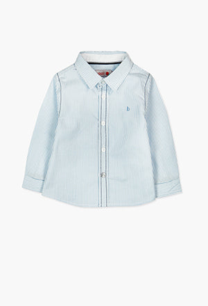 Boboli Stripe Shirt- Blue/White