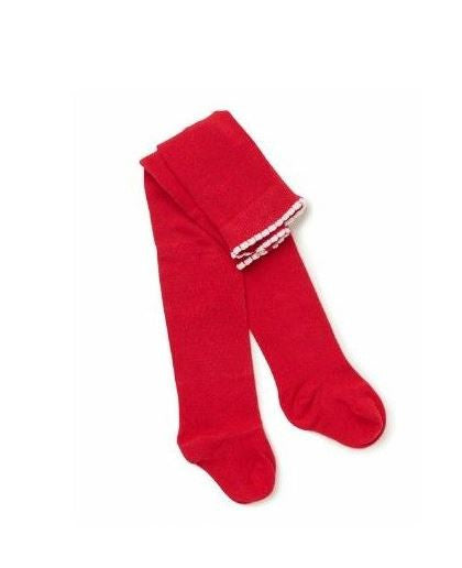 Marquise Red Knitted Cotton Tights - Sweet Thing Baby & Childrens Wear