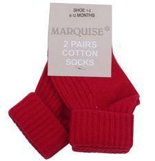Marquise 2 Pack Red Knitted Socks - Sweet Thing Baby & Childrens Wear