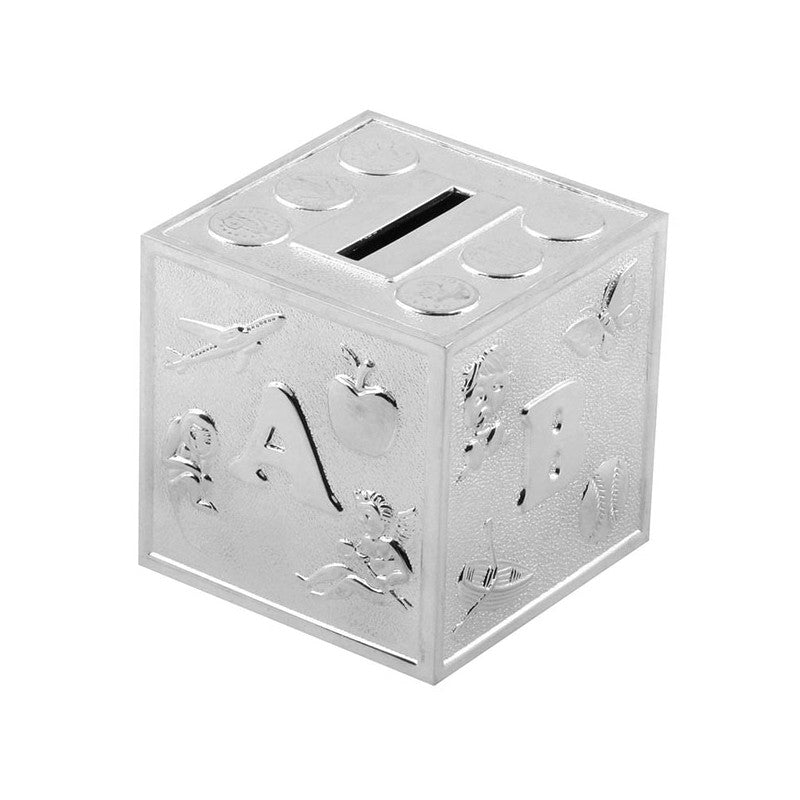 Bambino Sliver Cube ABC Money Box