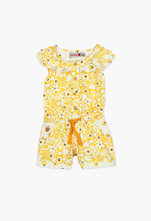 Boboli Yellow Flower Jumpsuit
