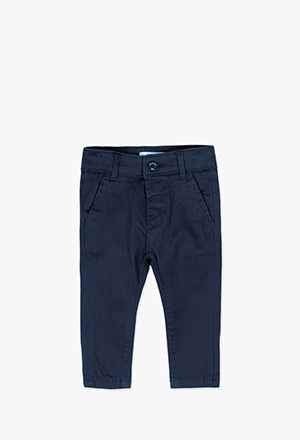Boboli Stretch Trousers- Navy