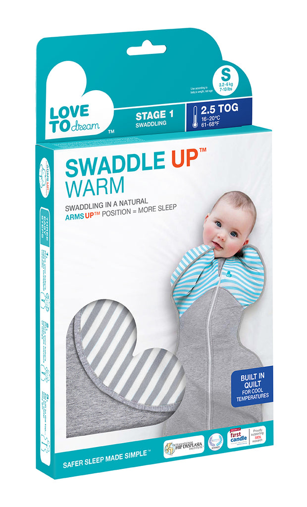 Love to Dream Swaddle UP Winter Warm 2.5TOG Grey Stripe