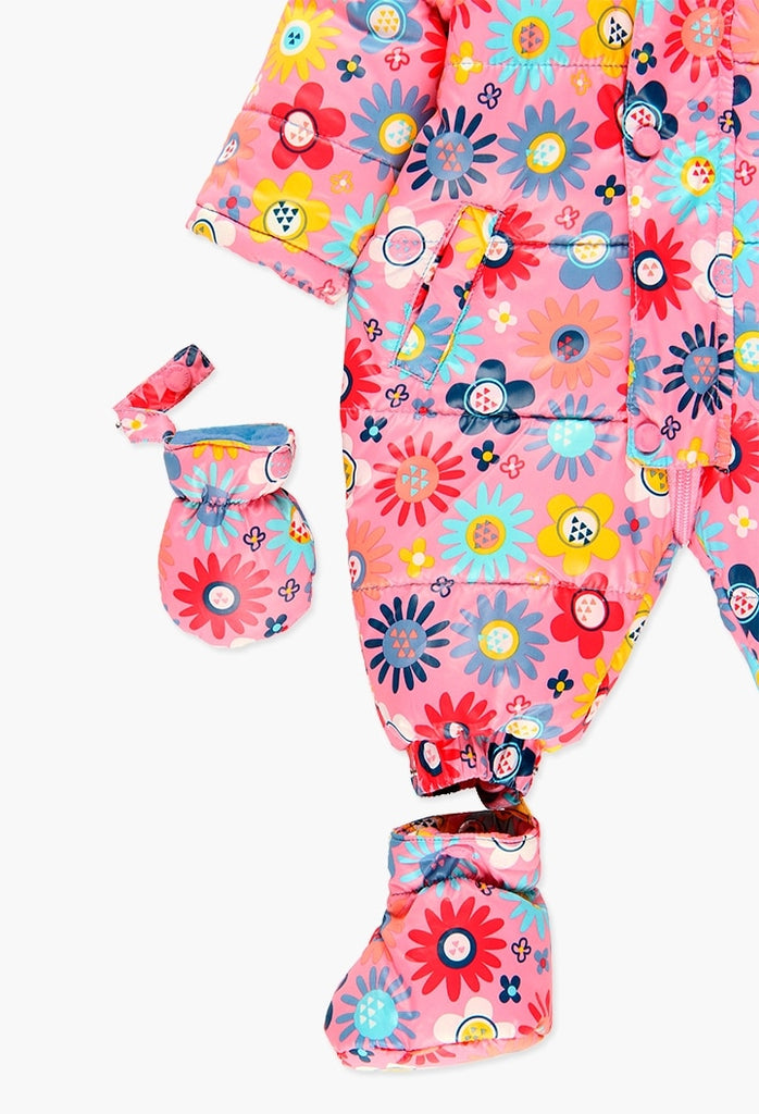 Boboli Technical Fabric Babygrow for Baby Girl  (Size 3M-12M)